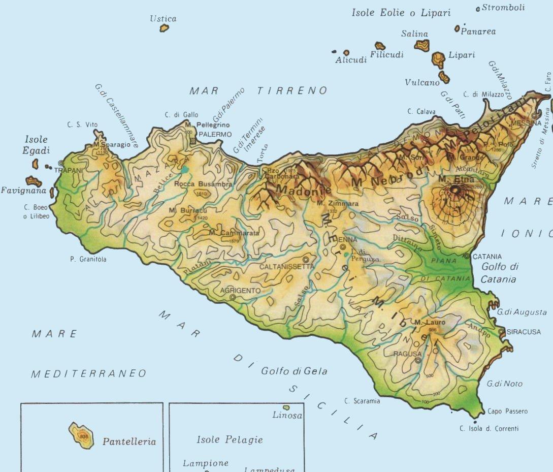 Cartina sicilia da scaricare